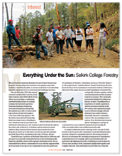 Article on Selkirk's Forestry Program in BC Forest Professional