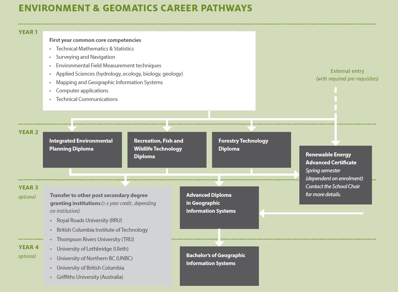 environment and geomatics career pathways