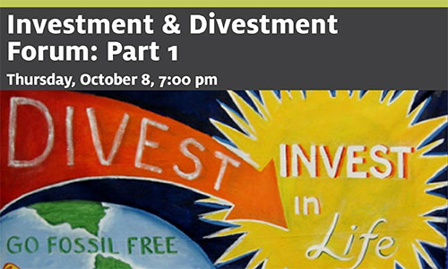 DIVESTMENT AND INVESTMENT