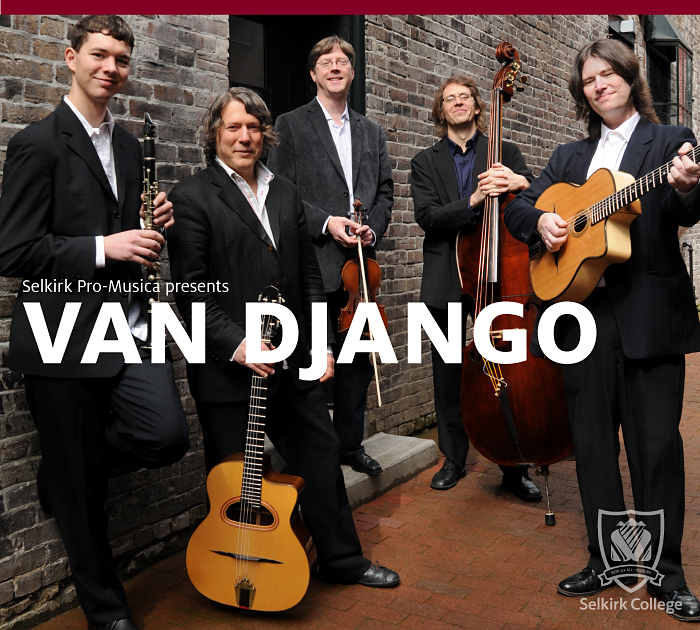 Selkirk Pro-Musica presents Van Django on Feb 22nd