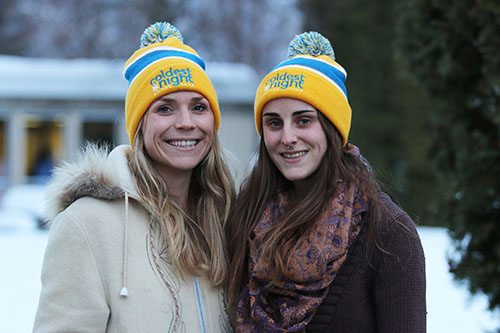 Emma Lesnik and Morgan Schultz (right) are third-year Selkirk College Nursing Students helping organize the Coldest Night of the Year, an event hosted by Nelson CARES to increase awareness and raise funds to alleviate the effects of homelessness.