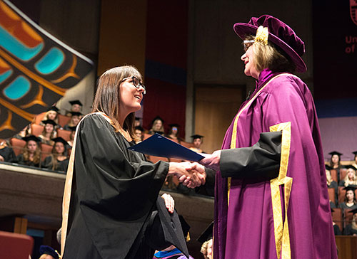 Holli Norberg received the Certificate of Outstanding Academic Distinction for achieving top marks in the Faculty Human and Social Development from the University of Victoria.