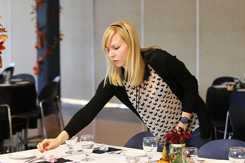 Students from Selkirk College's School of Hospitality and Tourism hosted about 200 people to Tenth Street Campus for a food forum aiming to help people struggling with poverty get protein into their meals.