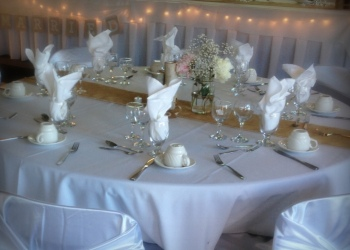 Selkirk College Classic Catering Table Set for a Wedding
