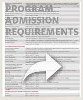 program admission requirements