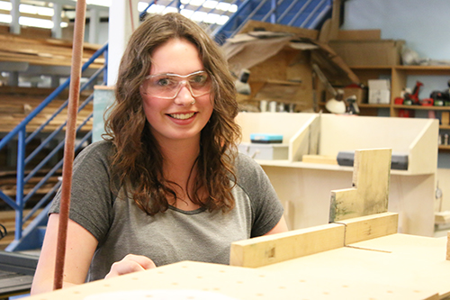Chantelle Howard is taking advantage of Youth Train in Trades which allows her to complete trades training while getting high school credits toward graduation.