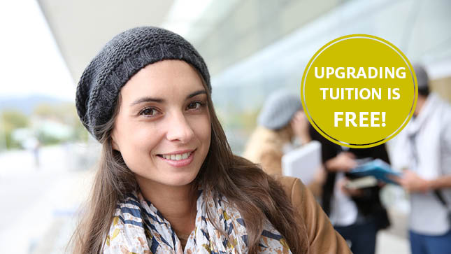 Academic Upgrading is Tuition Free!
