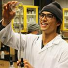 Selkirk College chemistry student at work