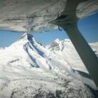 Flying near mountains with students at Selkirk College