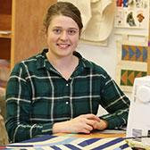 Rebekah Krahn, 22, just graduated from the Textile Studio took the program to pursue a passion she's had since childhood