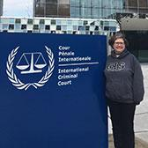 After landing a dream internship in the Netherlands, Geographic Information Systems Program student Karen Godbout is now using her education and skills to help the fight against worst international crimes.
