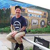 A collision of creativity and cool is now on display in Nelson's downtown as Selkirk College Human Services Instructor Matty Hillman joins the artist brigade taking part in the annual Nelson International Mural Festival.