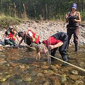In a program loaded with experiential learning opportunities, second-year students in the Integrated Environmental Planning Program spent the opening week of the semester taking part in leading edge freshwater research.