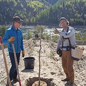 Students in the School of Environment & Geomatics wrapped up their first year of study at Selkirk College taking part in a rewarding field school along the banks of the Columbia River just north of Trail.
