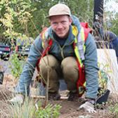 The main parking lot on Selkirk College's Castlegar Campus recently underwent a major makeover that included a special project carried out by students in the School of Environment & Geomatics which provides a sustainable and beautiful element.