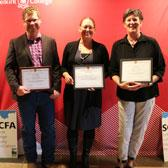 Delivering a post-secondary education that makes a difference in the lives of students is the common theme for the four SCOPE Award winners who were recently honoured for their dedication and passion at the annual award celebration.