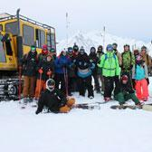 First-year Ski Resort Operations & Management Program students embarked on a thrilling field trip Selkirk Snowcat Skiing north of Meadow Creek in late-January to complete an avalanche training course and get a peek at one of the province's outstanding outdoor destinations.