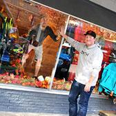 Second-year students in the Ski Resort Operations & Management Program are gearing up for winter and taking learning outside the classroom with a window display contest that is offering up a chance to win gear from a Nelson downtown retail partner.