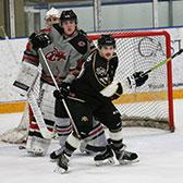 The Selkirk College Saints needed four points to keep pace in the race for first place overall in the BCIHL and they accomplished the task with a pair of victories over the Eastern Washington University Eagles.