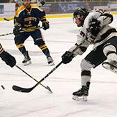 The Selkirk College Saints hockey team fell short in the quest for a fifth British Columbia Intercollegiate Hockey League crown, but gave the Trinity Western University Spartans a determined effort in the championship series.