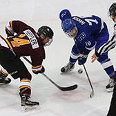 The British Columbia Intercollegiate Hockey League stretch drive to the playoffs is on and the Selkirk College Saints have their eyes set on a solid finish to the regular season so they can host the first round of the post-season at their home arena in Castlegar.