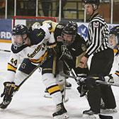 With ten games remaining in the British Columbia Intercollegiate Hockey League season, the Selkirk College Saints have a challenging road ahead as the team pushes for a spot in the playoffs.