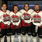 As the Selkirk College Saints headed into the holiday break, four first-year players were invited to take part in an international contest that provided a showcase for the BCIHL and prepared Team Kazakhstan for the upcoming World Junior Championships.