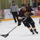 Needing a win to lock up second place in the standings and host the first round of the playoffs, the Selkirk College Saints came through with a 5-1 victory against Vancouver Island University. The Saints will how host the league semi-final at the Castlegar & District Recreation Complex.