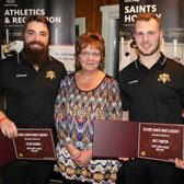 The official end to the 2016-2017 British Columbia Intercollegiate Hockey League season for the Selkirk College Saints took place last week at the Castlegar Golf Club with the annual awards night that featured recognizing outstanding achievements by individual players.