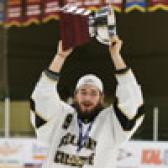 The Selkirk College Saints captured their fourth straight British Columbia Intercollegiate Hockey League (BCIHL) championship on Saturday night with a 2-1 victory over the Trinity Western University Spartans before a packed house at the Castlegar & District Recreation Complex.