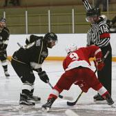 After a slow start to the new season, the Selkirk College Saints got on track with an exciting 5-2 win over Simon Fraser University on Saturday night in Burnaby and in doing so found the missing offence that will be required in their quest for five straight league titles.