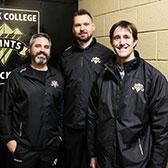 As the Selkirk College Saints near the end of the British Columbia Intercollegiate Hockey League season, they can credit a trio of health care professionals for helping keep the team moving forward towards the goal of winning a provincial championship.