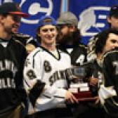 The student athletes on the Selkirk College Saints took time to share their impressive accomplishment of four straight British Columbia Intercollegiate Hockey League (BCIHL) championships on Wednesday afternoon at the Castlegar Campus.