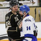 The Selkirk College Saints continue to roll through the early stage of the British Columbia Intercollegiate Hockey League season after earning a fourth straight win in a spirited game against Vancouver Island University on Saturday night.
