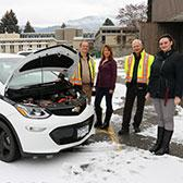 The importance of reducing Selkirk College's ecological footprint and leading by example in the region is illustrated in the latest addition to the vehicle fleet that carries with it a trend that will continue to build in the coming years.