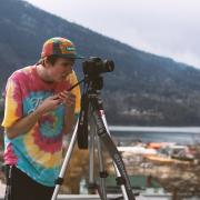 "Photo by Wyatt Miller-Unser, Digital Arts & New Media Student ""Filming on the Roof"""