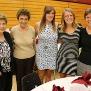 Dr. Robert Driscoll Scholarship winner Jill Bisaro (second from right) celebrated her award with family.