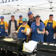 The Castlegar Lions Club prepared the breakfast with help from Team 50.