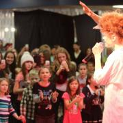 Kiesza performed five songs for fans who came out to Mary Hall on the Tenth Street Campus on Sunday afternoon.