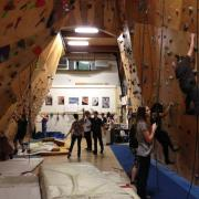 Conference participants had a chance to try out the climbing facility at Cube Climbing Gym on the Tenth St. campus.