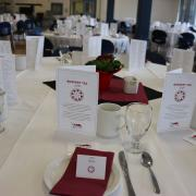 The table settings and service on the afternoon was provided by the students in the Resort & Hotel Management at Selkirk College Program.