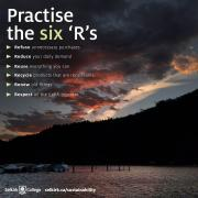 Practice recycling and the six r's