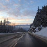 "Photo by Laurie Ford, Business Student ""Road through the Kootenays"""