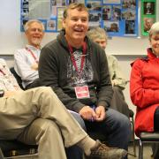 Current Selkirk College Dean of Instruction Rhys Andrews (middle) attended the reunion to hear the old stories. Rhys is the son of pioneer faculty member Craig Andrews and grew up around the college as a kid, went onto become a student and eventually an instructor in the Environment and Geomatics at Selkirk College. He is now one of the college's leaders, helping guide post-secondary in our region into the next 50 years.