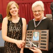 Nursing Program student Catharina Baas-Sylvester received the Doris Sweeney Memorial Scholarship which was presented by Doreen Smecher on behalf of Wilf Sweeney.
