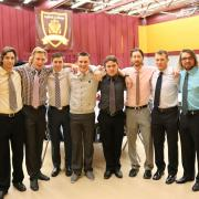 Members of the Selkirk Saints Men's hockey team helped serve the treats and coffee.