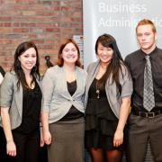 Second Place Business Competition: Erika Swanson, Breeanne van Zanden, Teresa Mah, Scott Jago