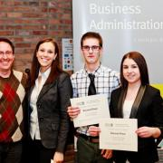 Second Place Marketing Trade Show: Judge Wayne Kelly, Lauren Zanier, Erik Martin, Brittany Horswill