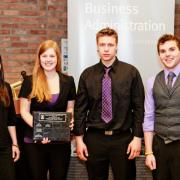 Students' Choice Business Competition: Brielle Hwalstad, Sam Thor-Larsen, Todd Hoodicoff, Evan Richtsfeld