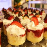 The individual strawberry trifles were a featured desert in the 1990s.